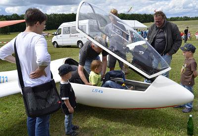Probesitzen im Segelflugzeug